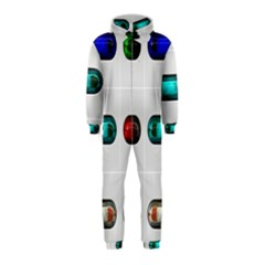 9 Power Button Hooded Jumpsuit (kids)