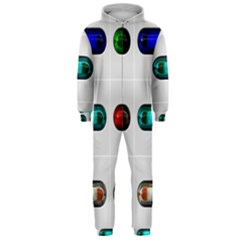 9 Power Button Hooded Jumpsuit (Men)