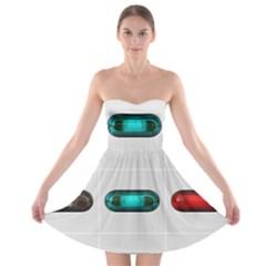 9 Power Button Strapless Bra Top Dress