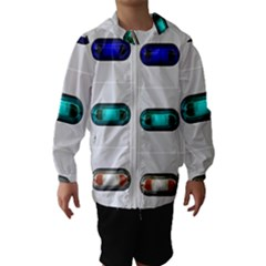 9 Power Button Hooded Wind Breaker (Kids)