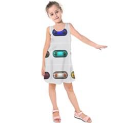 9 Power Button Kids  Sleeveless Dress