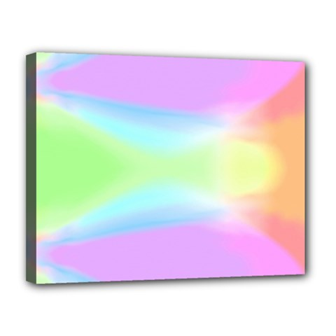 Abstract Background Colorful Canvas 14  x 11