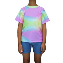Abstract Background Colorful Kids  Short Sleeve Swimwear