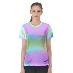 Abstract Background Colorful Women s Sport Mesh Tee