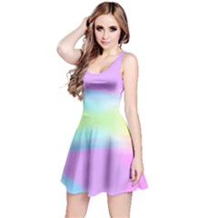 Abstract Background Colorful Reversible Sleeveless Dress