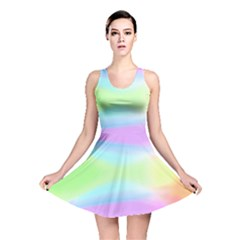 Abstract Background Colorful Reversible Skater Dress