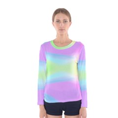 Abstract Background Colorful Women s Long Sleeve Tee