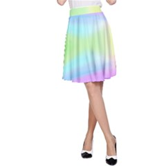 Abstract Background Colorful A-Line Skirt