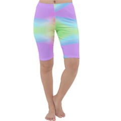 Abstract Background Colorful Cropped Leggings