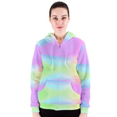 Abstract Background Colorful Women s Zipper Hoodie