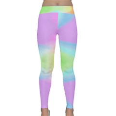 Abstract Background Colorful Classic Yoga Leggings