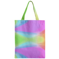 Abstract Background Colorful Zipper Classic Tote Bag