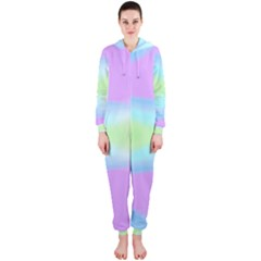 Abstract Background Colorful Hooded Jumpsuit (Ladies)