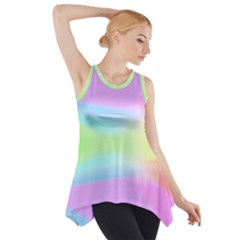 Abstract Background Colorful Side Drop Tank Tunic