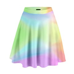 Abstract Background Colorful High Waist Skirt