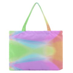 Abstract Background Colorful Medium Zipper Tote Bag