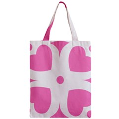 Love Heart Valentine Pink White Sweet Classic Tote Bag