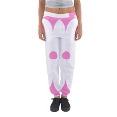 Love Heart Valentine Pink White Sweet Women s Jogger Sweatpants