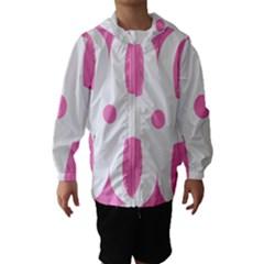 Love Heart Valentine Pink White Sweet Hooded Wind Breaker (Kids)