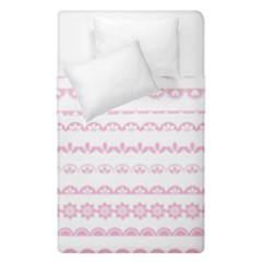 Pink Lace Borders Pink Floral Flower Love Heart Duvet Cover Double Side (single Size)
