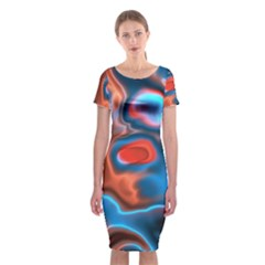 Abstract Fractal Classic Short Sleeve Midi Dress