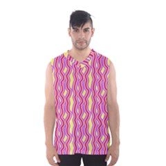 Pink Yelllow Line Light Purple Vertical Men s Basketball Tank Top