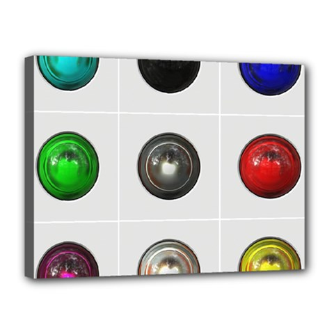 9 Power Buttons Canvas 16  x 12