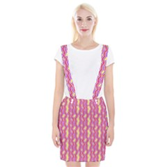 Pink Yelllow Line Light Purple Vertical Suspender Skirt