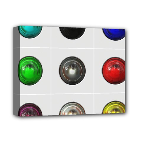 9 Power Buttons Deluxe Canvas 14  X 11