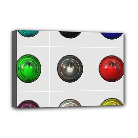 9 Power Buttons Deluxe Canvas 18  x 12