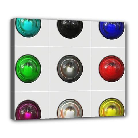 9 Power Buttons Deluxe Canvas 24  x 20