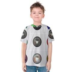 9 Power Buttons Kids  Cotton Tee