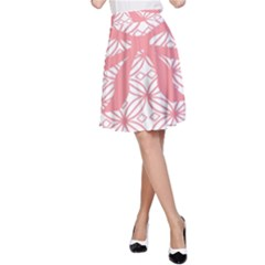 Pink Plaid Circle A-Line Skirt