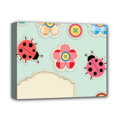 Buttons & Ladybugs Cute Deluxe Canvas 14  X 11