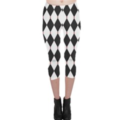 Plaid Triangle Line Wave Chevron Black White Red Beauty Argyle Capri Leggings