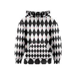 Plaid Triangle Line Wave Chevron Black White Red Beauty Argyle Kids  Zipper Hoodie
