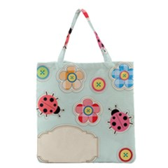 Buttons & Ladybugs Cute Grocery Tote Bag