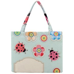Buttons & Ladybugs Cute Mini Tote Bag