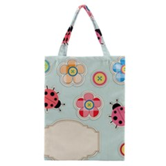 Buttons & Ladybugs Cute Classic Tote Bag