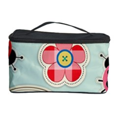 Buttons & Ladybugs Cute Cosmetic Storage Case