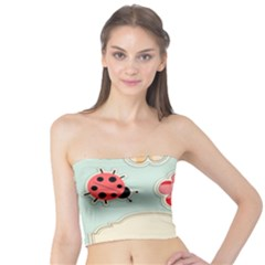 Buttons & Ladybugs Cute Tube Top