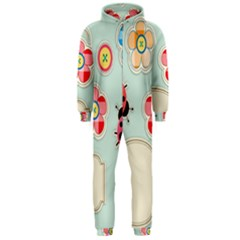 Buttons & Ladybugs Cute Hooded Jumpsuit (men)
