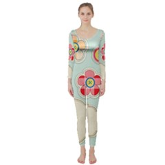 Buttons & Ladybugs Cute Long Sleeve Catsuit