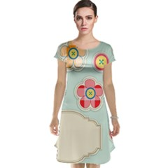 Buttons & Ladybugs Cute Cap Sleeve Nightdress