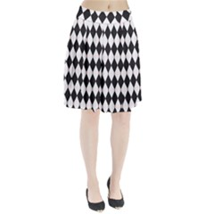 Plaid Triangle Line Wave Chevron Black White Red Beauty Argyle Pleated Skirt