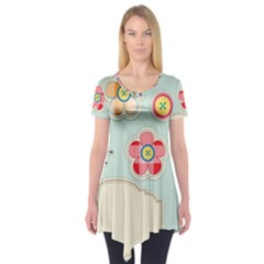 Buttons & Ladybugs Cute Short Sleeve Tunic