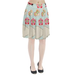 Buttons & Ladybugs Cute Pleated Skirt
