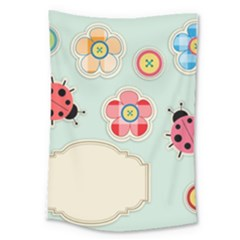 Buttons & Ladybugs Cute Large Tapestry