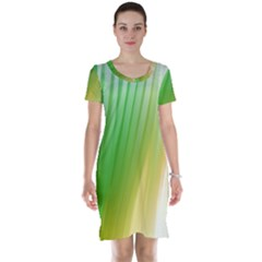 Folded Paint Texture Background Short Sleeve Nightdress