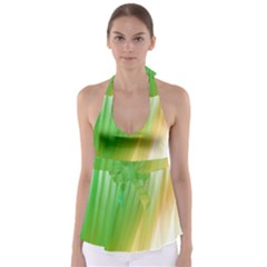 Folded Paint Texture Background Babydoll Tankini Top